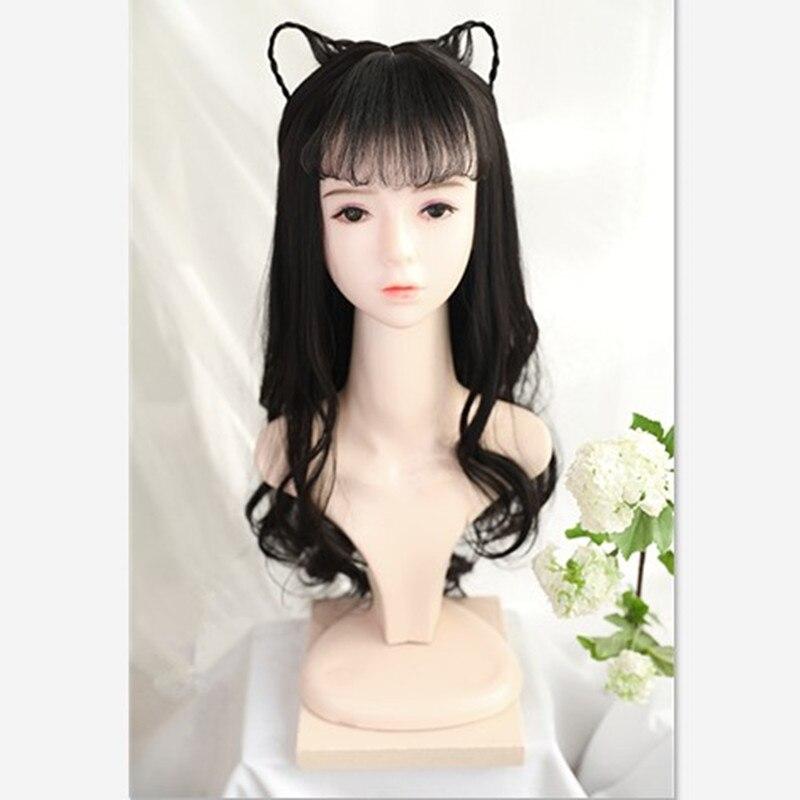 65cm han dynasty feminino cosplay cabelo adorável cosplay moda princesa headwear natal carnaval suprimentos