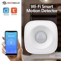 Беспроводная система домашней безопасности Tuya, детектор движения с PIR-датчиком, Wi-Fi