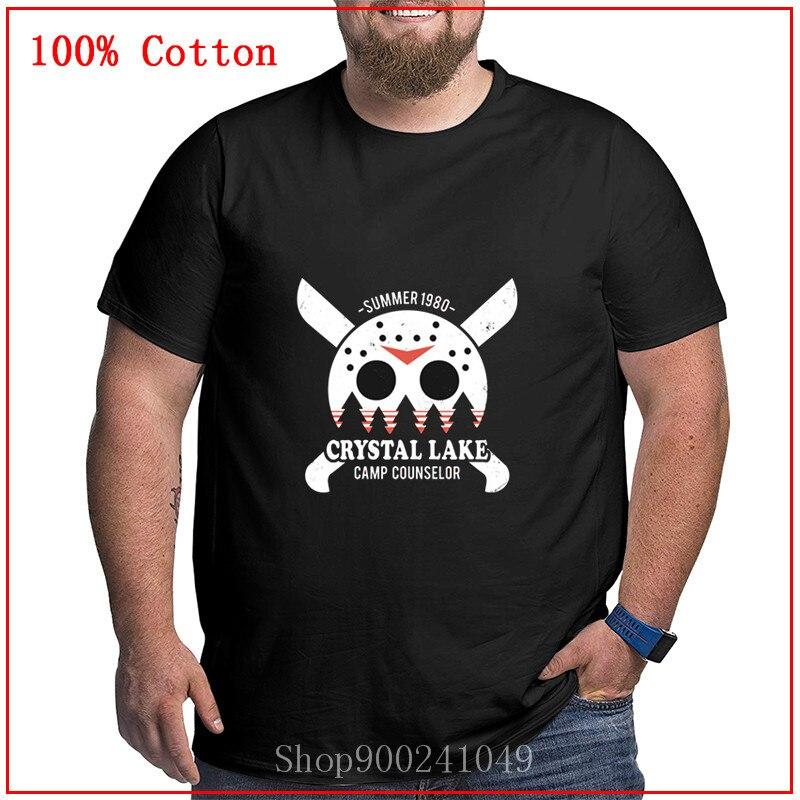 Crystal Lake Camp Counselor Viernes 13 Jason Voorhees camiseta para hombres Verano Divertido Vintage Horror camisetas para hombres de gran tamaño