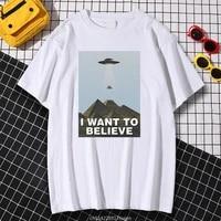 kohpweran i want to believe hip hop print t shirt tops graphic creativity oversize cartoons breathable women t shirts