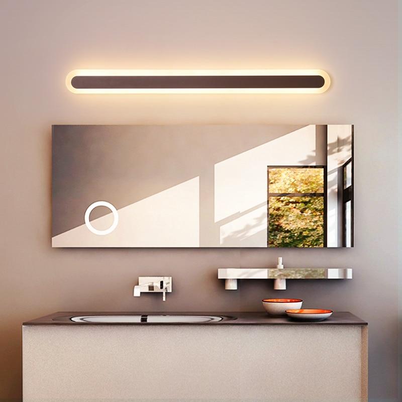 مصباح حائط LED بني حديث ، مصباح حائط ، مصباح حمام ، مصباح غرفة نوم ، لوح أمامي ، شمعدان حائط ، مصباح ديكور مضاد للضباب ، 0.4 م-1.2 م