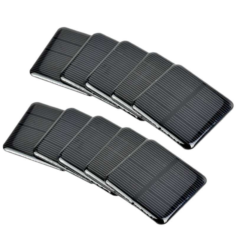 10Pcs Solar Panels 2V 160Ma Monokristalline Silizium Solar Zellen Batterie