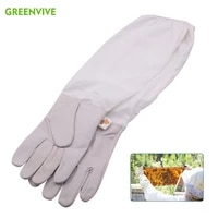 bee gloves sheepskin breathable beekeeping gloves for beekeeper professional beekeeping gloves leather bee keeping with sleeves