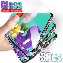 3 PIÈCES En Verre Trempé Pleine Couverture Pour Samsung Galaxy A51 A71 A20E A50 A70 A10 A20 A30 A40 Protecteur Décran Pour Samsung A80 A60 A90