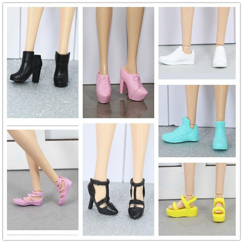 Sapatos planos originais, sapatos de salto alto/acessórios de boneca para 1/6 fr st xinyi boneca barbie, edição coletiva sapatos de boneca