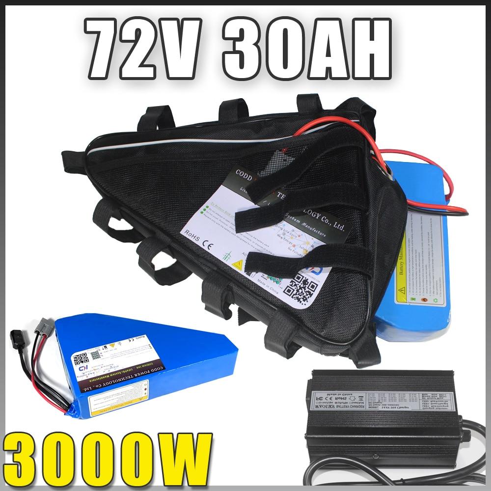 بطارية دراجة كهربائية 72 فولت 40 أمبير في الساعة مثلث دراجة كهربائية 2000 وات 3000 وات 72 فولت