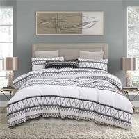 printed brushed quilt cover and pillowcase three piece set moroccan style bedding polyester bed set queen striped liberal arts