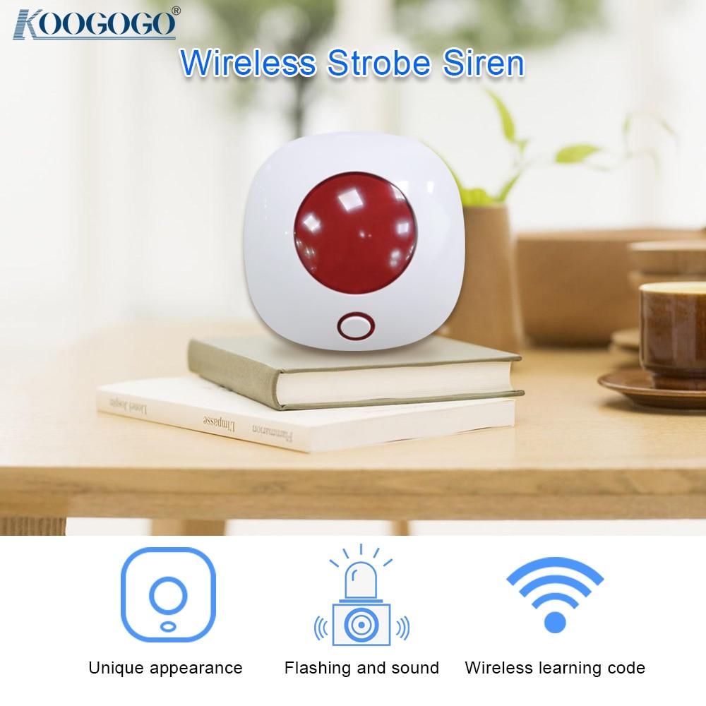 Беспроводной сирена 433 мгц сигнализации мини рожок сирены для домашней охранной сигнализации звук Системы сигнализации 110dB светильник со с...