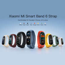 Оригинальный силиконовый ремешок для Xiaomi Mi Band 6, сменный Браслет Для Xiaomi Mi Band 6
