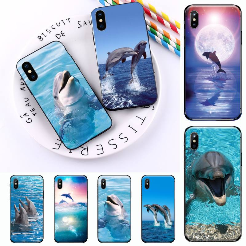 dolphin cute ocean animal luxury design Phone Case shell for iPhone 11 12 mini pro XS MAX 8 7 6 6S Plus X 5S SE 2020 XR