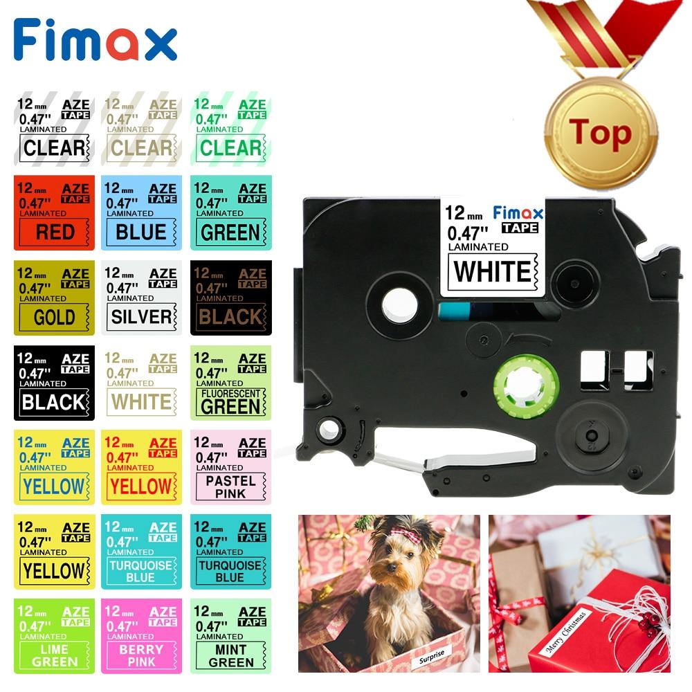 Fimax 31 Colors TZe231 TZe-231 Tze 231 tze231 Compatible for Brother P-touch Printer tze tape 12mm Label Maker PT 100 D200