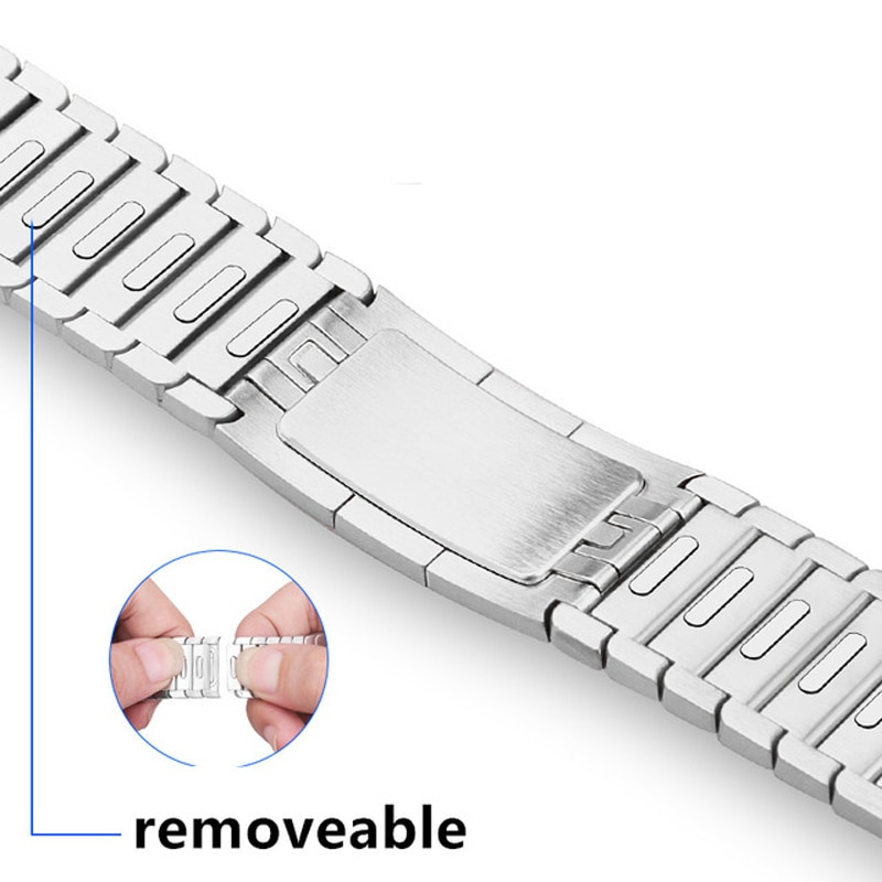 for apple watch band 44mm 40mm 38mm 42mm metal bracelet stainless steel strap for apple watch series se 6 5 4 3 2 1 watchband 1:1 Stainless Steel Band Link Bracelet for Apple Watch series 1/2/3 42mm 38mm Metal Band For Apple watch 4/5/6/SE 40MM 44MM