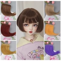 dollaccesories hair weft extensions hair wefts khaki pink brown curly doll hair wigs for bjdsd diy handmande doll wigs