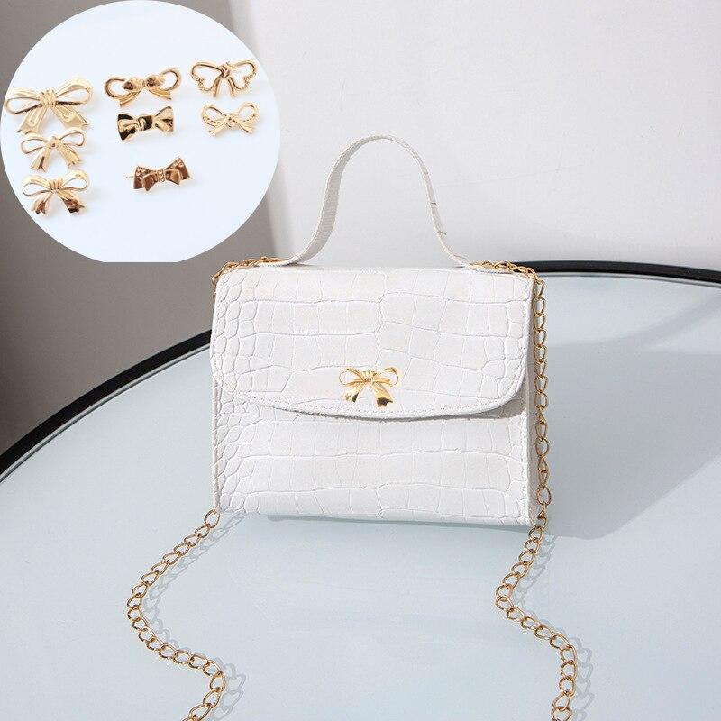 AliExpress - 1PC Cute Bowknot Metal Decoration DIY Handbag Purse Bag Accessories Shoes Clip Buckle Hardware Decoration Accessories