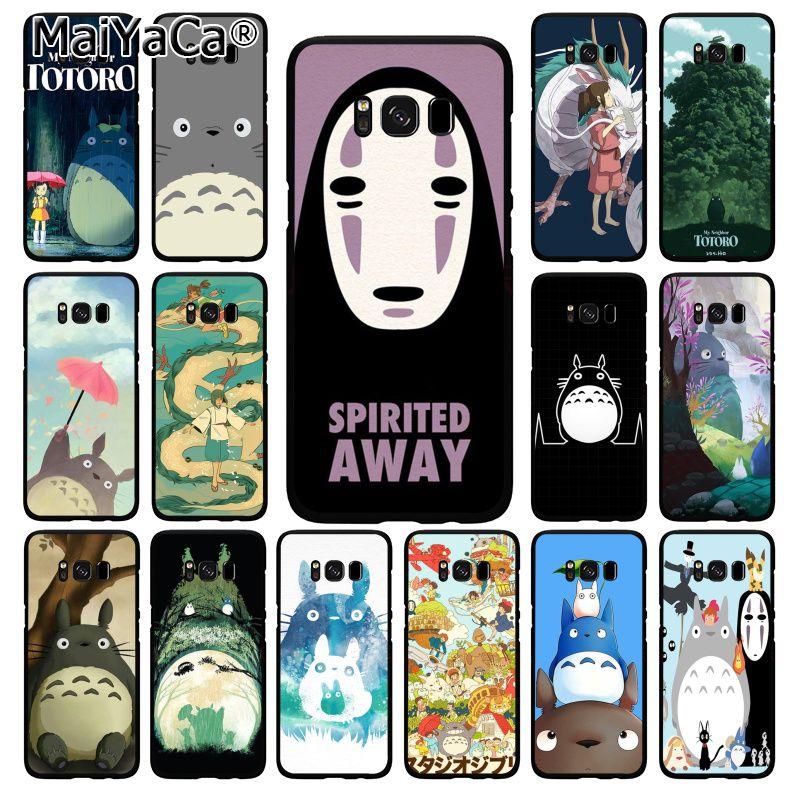 Maiyaca bonito totoro spirited afastado ghibli miyazaki anime caso de telefone para samsung galaxy s20 s5 s10 s10e s6 s7 s8 s9plus s10lite