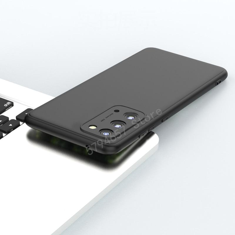 Para samsung s20 caso matte silm macio silicone telefone capa para samsung galaxy s20 plus s20 ultra s20 fe funda capa traseira