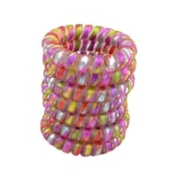 lot 5pcs colorful elastic rubber telephone wire hair bands ponytail holder accessories