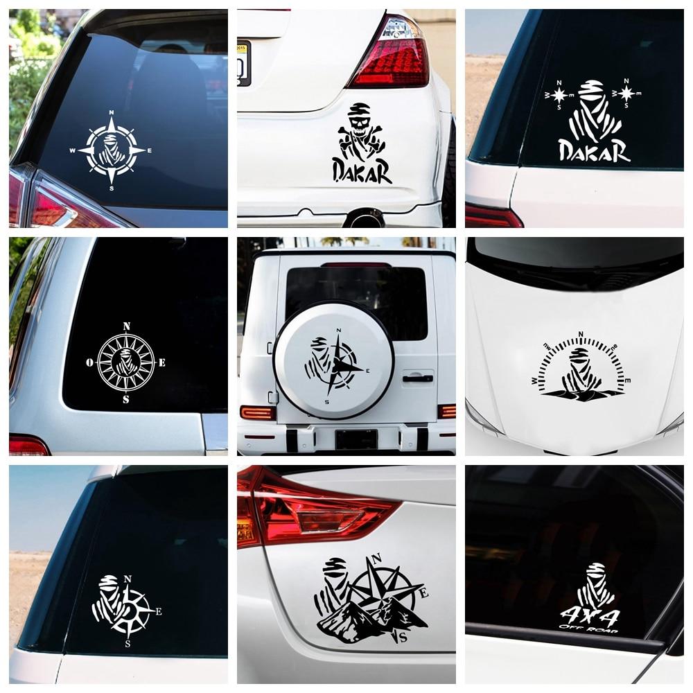 AliExpress - Creative Design Dakar And Compass Car Sticker Vinyl Wrap For Cars Decoration Cover Waterproof Scratch Sticker Accessories