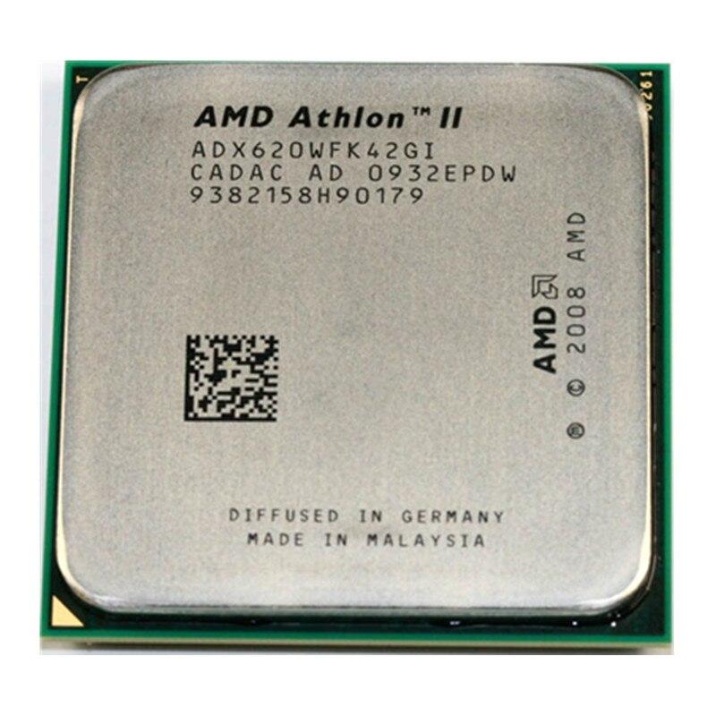 Amd athlon ii x4 620 2.6ghz processador quad-core adx620wfk42gi soquete am3 938pin