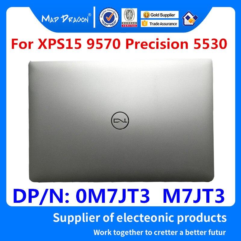 MAD DRAGON-غطاء خلفي LCD للكمبيوتر المحمول ، غطاء خلفي للكمبيوتر المحمول ، فضي وأبيض ، دقة 9570 ، لـ Dell XPS 15 5530 M5530 0M7JT3 M7JT3