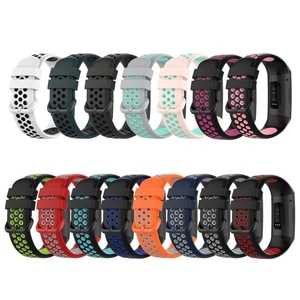 For -Fitbit charge3/3SE/4/4SE watch Wristband Bracelet two-color silicone strap