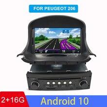 Android 10 Auto Dvd Autoradio Voor Peugeot 206 2007-2014 Auto Radio Gps Navigatie Audio Video Wifi 1 Gb ram
