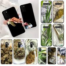 YJZFDYRM Drug Dealer Money Weed Art Coque Shell Phone Case for Samsung S20 plus Ultra S6 S7 edge S8 S9 plus S10 5G lite 2020