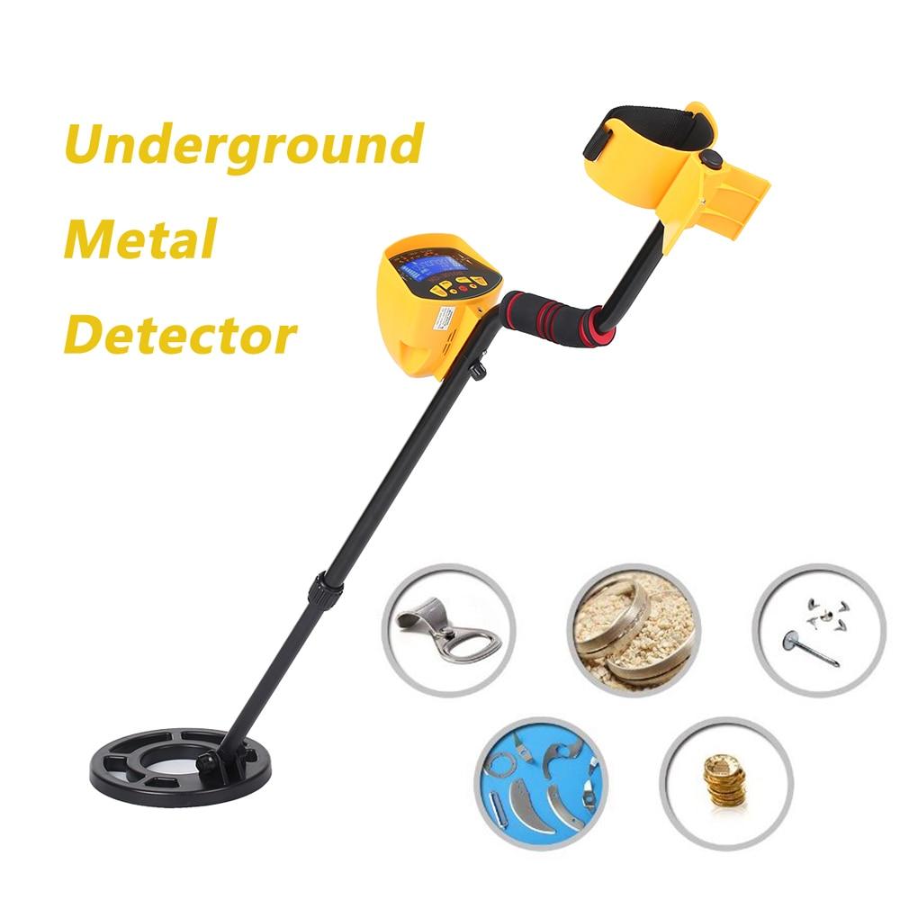 Detector de Metais Caçador de Tesouros de Ouro Localizador de Metais Subterrâneo Md3010ii