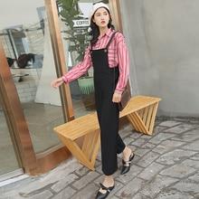 Autumn 2021 Fashion Suspender Pants for Women Spring and Autumn Korean
