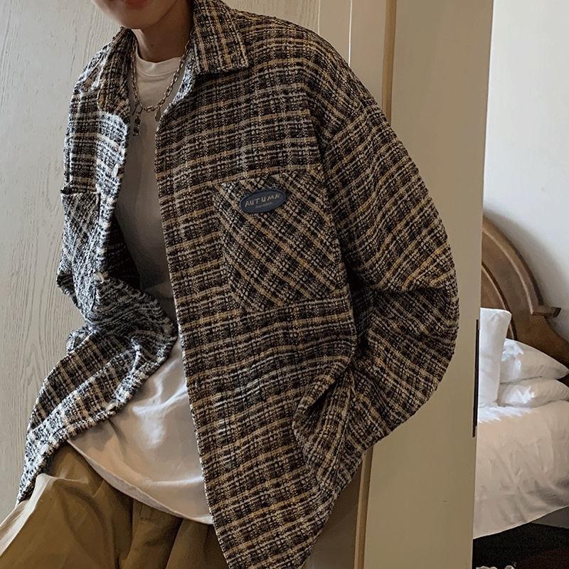 Демисезонная Оригинальная Повседневная куртка в Корейском стиле, Мужская модная Свободная куртка, Мужская Уличная одежда, рубашка в стиле ...
