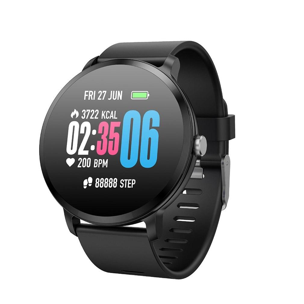 Nuevo Color pantalla V11 pulsera inteligente ritmo cardíaco deportes paso Recordatorio DE INFORMACIÓN pulsera de desgaste inteligente
