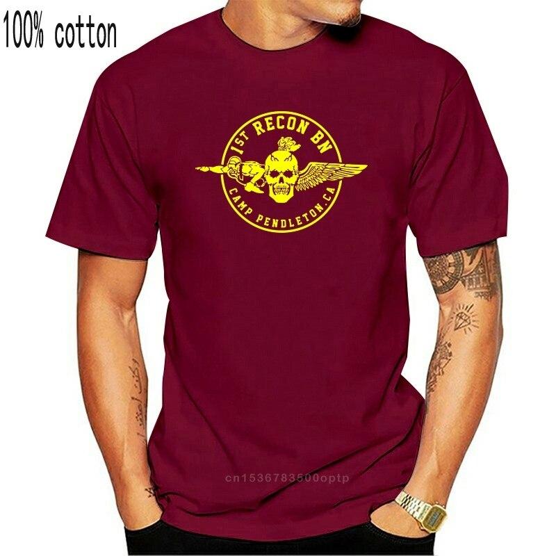 2019 nova moda 1st recon bn camp pendleton marinha t camisa tamanho S-3Xl duplo lado t