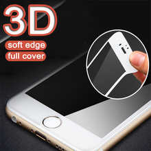 3D Curved Full Cover Protective glass on for iPhone 6 7 8 6s Plus Tempered glass on iPhone X XS MAX XR Screen protector Film