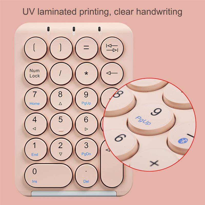 بلوتوث اللاسلكية لوحة رقمية 22 مفاتيح الكمبيوتر لوحة المفاتيح عدد صغير للكمبيوتر سطح المكتب المحاسبة المهام مكتب المنزل