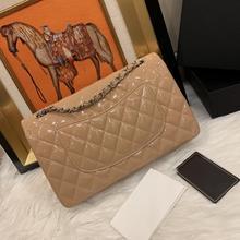 luxury designer import patent leather women flap chain shoulder bag crossbody bag lady handbag purse