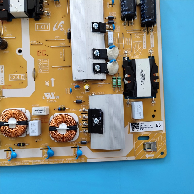 Good For  BN44-00977A L55S7NA_RHS Power Supply Board QE55Q70RAF QE55Q60RAT QE55Q70RAT QN49Q70RAF GQ55Q70RGT GQ49Q70RGT enlarge