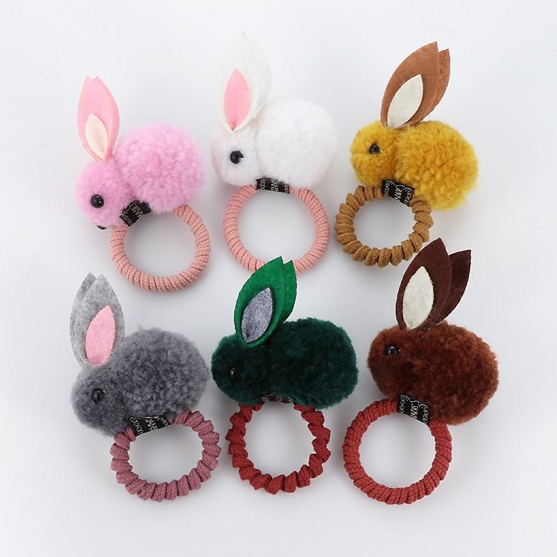 Ljubek prstan iz živalske dlake s kroglico in zajcem, ženski - Oblačilni dodatki - Fotografija 3