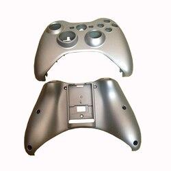 10 pçs peça de substituição prateado caso escudo completo para xbox 360 controlador sem fio habitação