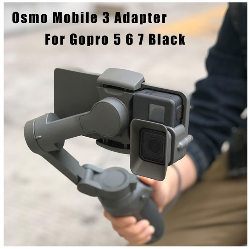 AMS-support de montage adaptateur portable pour caméra DJI OSMO Mobile 3 transfert pour caméra GoPro 5/6/7