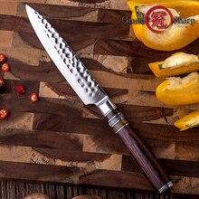 5'' Utility Knife Japanese VG10 Steel Blade Kitchen Knives Damascus Chef Knife Japanese Damascus Steel Peeling Kitchen Knive Hot