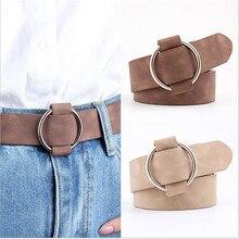 2021 Genuine Quality Ladies Fashion Needle-free Metal Round Buckle Belt Jeans Wild Luxury Brand The