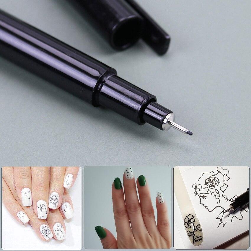 1 pc arte do prego graffiti caneta escultura pintura desenho escultura diy manicure arte do prego caneta prego desenho ferramenta