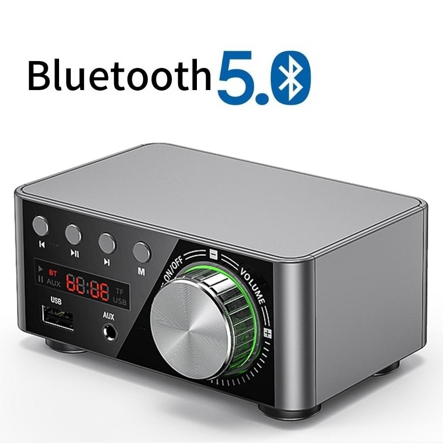 Mini Audio HiFi Bluetooth 5.0 Power Class D Amplifier Tpa3116 Digital Amp 50W*2 Home Audio Car Marin