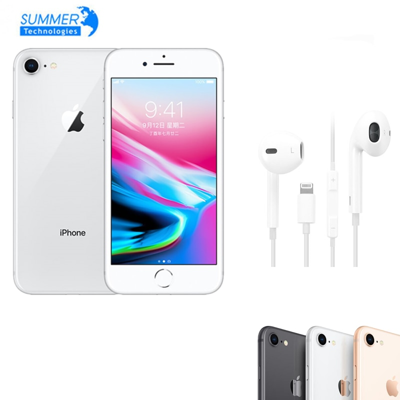 Get Apple Original iPhone 8 Genuine GSM Unlocked A11 Bionic iOS Hexa-Core 2GB RAM 64GB/256GB ROM 4.7″ 12.0 MP Fingerprint Mobile Pho