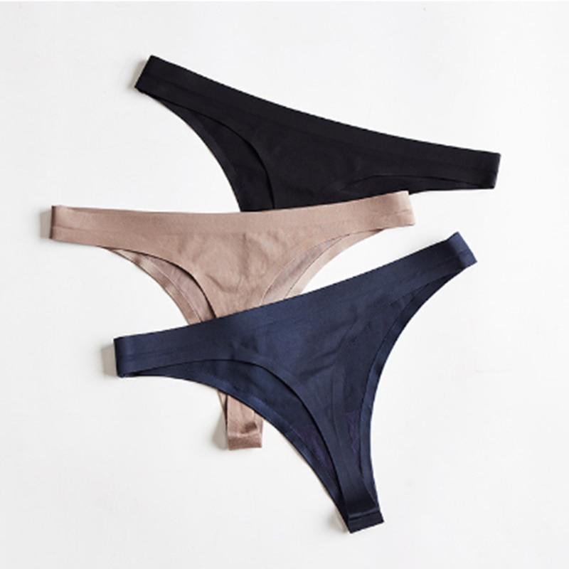 2Pcs/Set Seamless Thongs Plus Size Panties Women's Underwear Hot G-String Sexy Intimates Women's Lingerie Underwear & Sleepwears