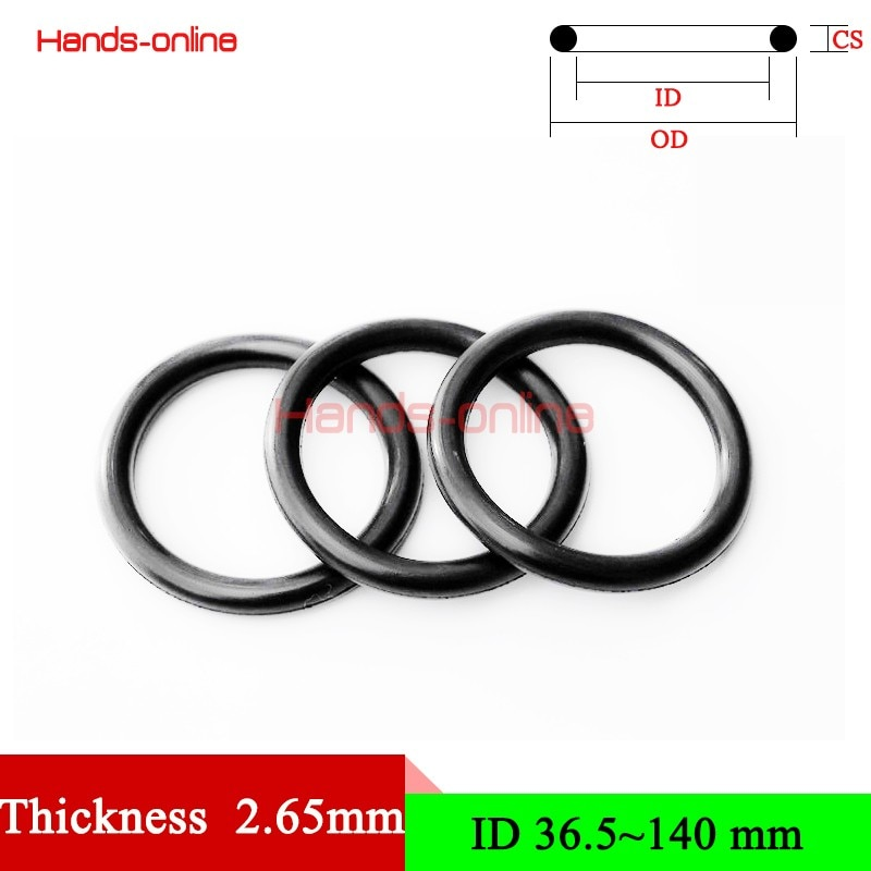 Thickness/CS 2.65mm NBR Rubber O Ring O-Ring Oil Sealing Automobile Sealing Sealing  O-Rings Seal Gasket Oil Washer 36.5-140mm o r ganiev enhanced oil recovery
