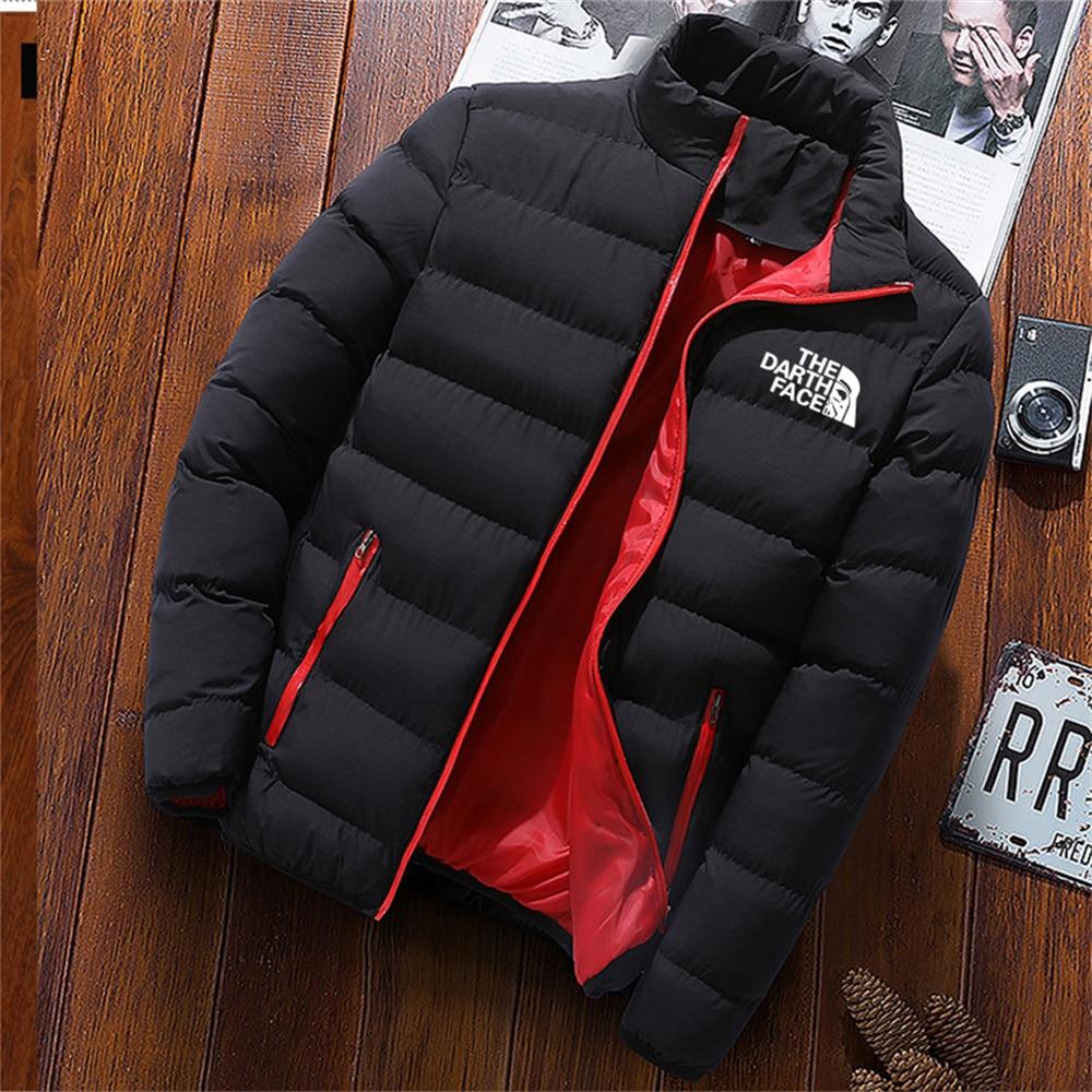 Зимняя мужская куртка 2021 брендовая модная мужская куртка с воротником-стойкой мужская приталенная Зимняя Толстая хлопковая куртка