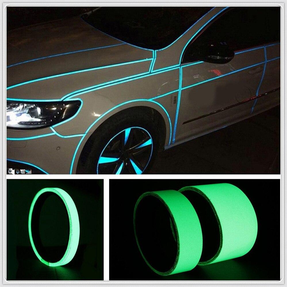 Coche 3M de seguridad de la noche cinta de rayas de cinta adhesiva luminosa para Ford Expedition EcoSport Kuga F-Series Escape SVT reflejo Freestar