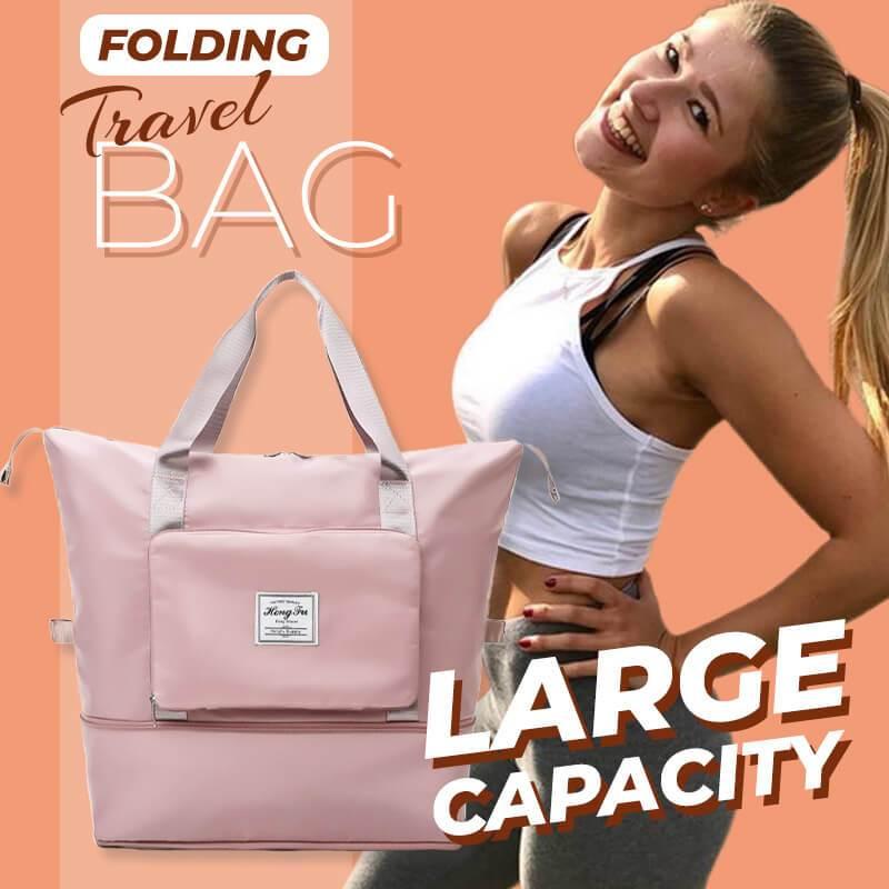 Large capacity folding travel bag Foldable Large Capacity Women Gym Bags Shoulder Bag Women Training