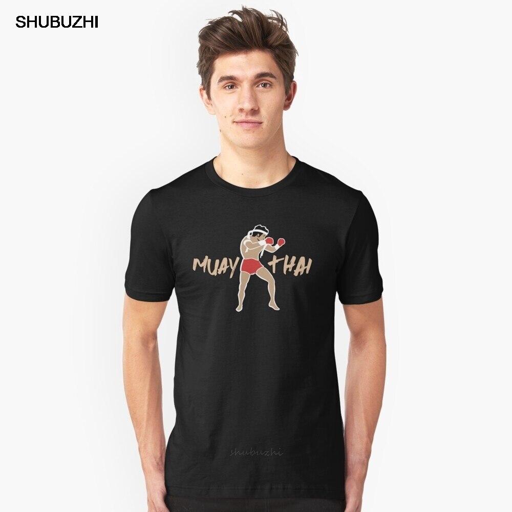 Camiseta de algodón de verano para hombre, camiseta Muay Thai Boxer Slim Fit, camiseta de marca para hombre de talla europea más grande